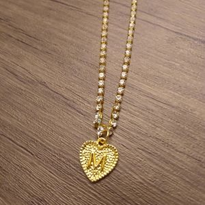 Gold plated initial m necklace
